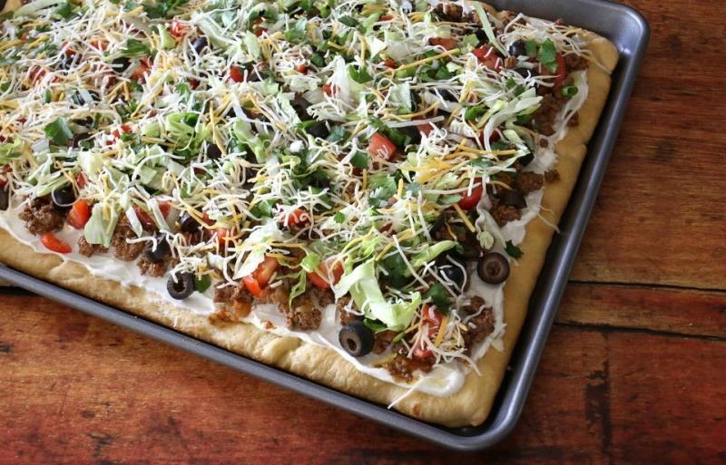 Crescent Dough Taco Pizza