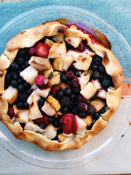Pear and Berry Crostata